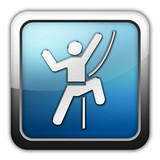 "Glossy Square Icon ""Rock Climbing"""
