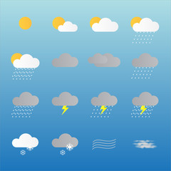 meteorologia fundo azul