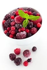 Frozen berries in a bowl