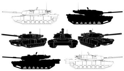 Military Tank Vector 02