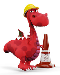 red hot baby dragon under-construction