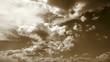Sepia Wolkenbewegung
