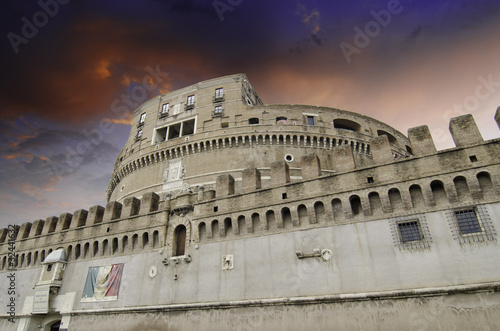 Poster Sky Colors over Castel Sant'Angelo in Rome