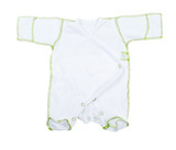 Baby clothes on white background
