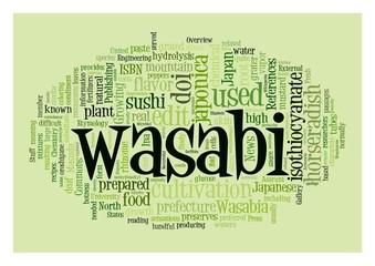 Wasabi word collage