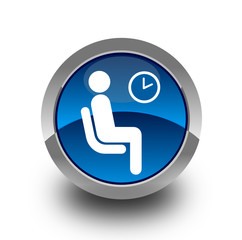 Waiting button