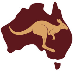 Map of Australia (kangaroo)