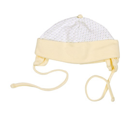 Cap for the newborn on white