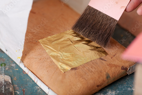 Leinwanddruck Bild vergolden