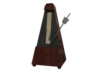 wooden metronome isolated
