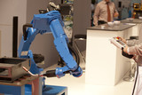 industrial robot arm poster