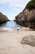 A woman in the beach, Nueva de Llanes. Asturias - Spain