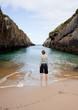 A woman looking the sea , Nueva de Llanes. Asturias - Spain