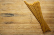 Spaghetti on Cutting Board