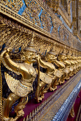 Gold Guards in Grand palace, Bangkok, Thailand