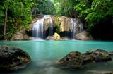 Fototapety Waterfall in Kanchanaburi Province,Thailand