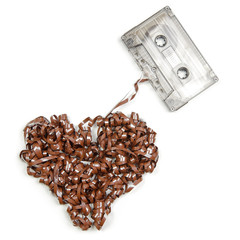 Heart shaped audio tape