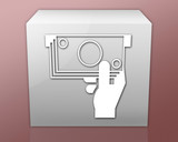 Box-shaped Icon (red b/g)