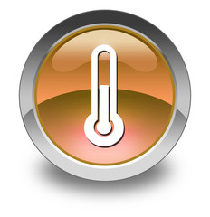 "Orange Glossy Pictogram ""Thermometer / Temperature"""