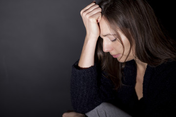 Frau depressiv