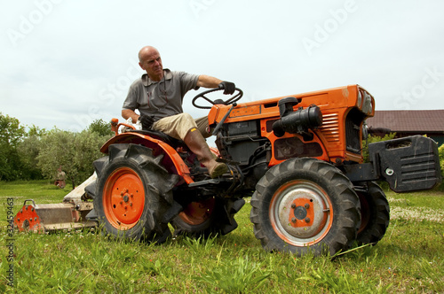 The farmer and his tractor