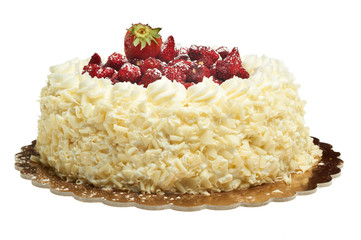 torta alla panna con fragoline