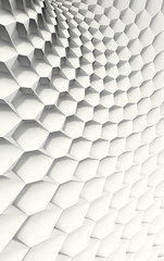 White Honeycomb in Curved Grid Configuration