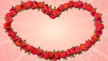 Heart Shaped Frame - Growing Organic Title with Roses in HD