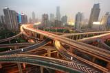 Fototapety traffic in city at night