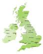 Karte Vereinigtes Königreich und Irland / vektor