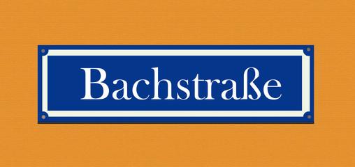 "Straßenschild ""Bachstraße"""