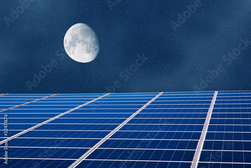 solar panel in the night