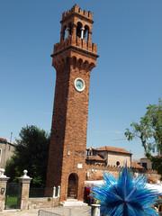 the bell tower of San Giacomo, Murano island