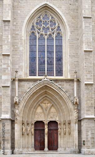 Portal of Minoriten kirche in Vienna,Austria