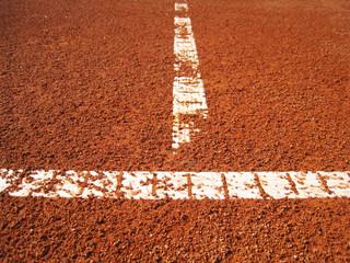 Tennisplatz Linie 1, Fokus auf der vorderen Querlinie