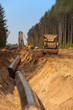 Baustelle: Trasse für Erdgas