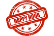 Sternen Stempel rot HAPPY HOUR