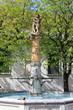 Leinwanddruck Bild - Fountain of Samson, Fribourg, Switzerland