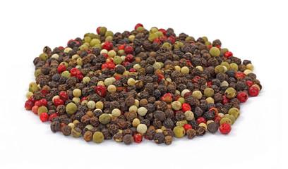 Red green black peppercorns