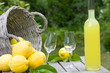 Garden party with limoncello