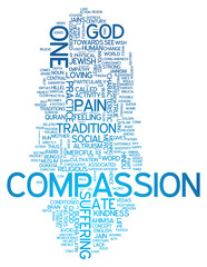 "Word Cloud ""Compassion"""