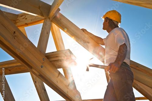 Fototapete Menschen auf der Baustelle - Gebäude - Fabrik - Menschen in der Fabrik - Poster - Aufkleber