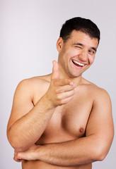 Portrait of handsome man on natural background