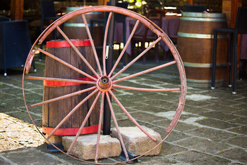 Old Wheel And Barrel