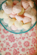sweet candies with retro pattern, marshmallow