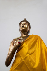 Gold statue image of Buddha