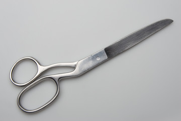 scissors isolated on gray