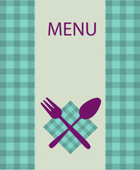 restaurant menu design with table utensil -2