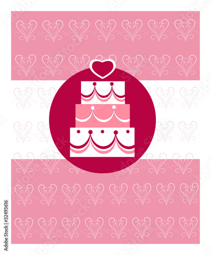 wedding cake wedding invitation template by zoyalipets royalty free vectors 32493616 on. Black Bedroom Furniture Sets. Home Design Ideas