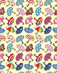 seamless umbrella pattern.